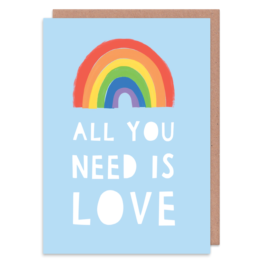 All You Need Is Love Greeting Card by Zoe Spry - Whale and Bird