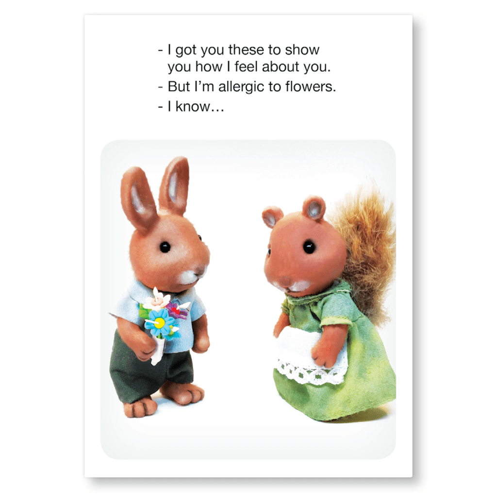 But I'm Allergic To Flowers Postcard by forest fr1ends - Whale and Bird
