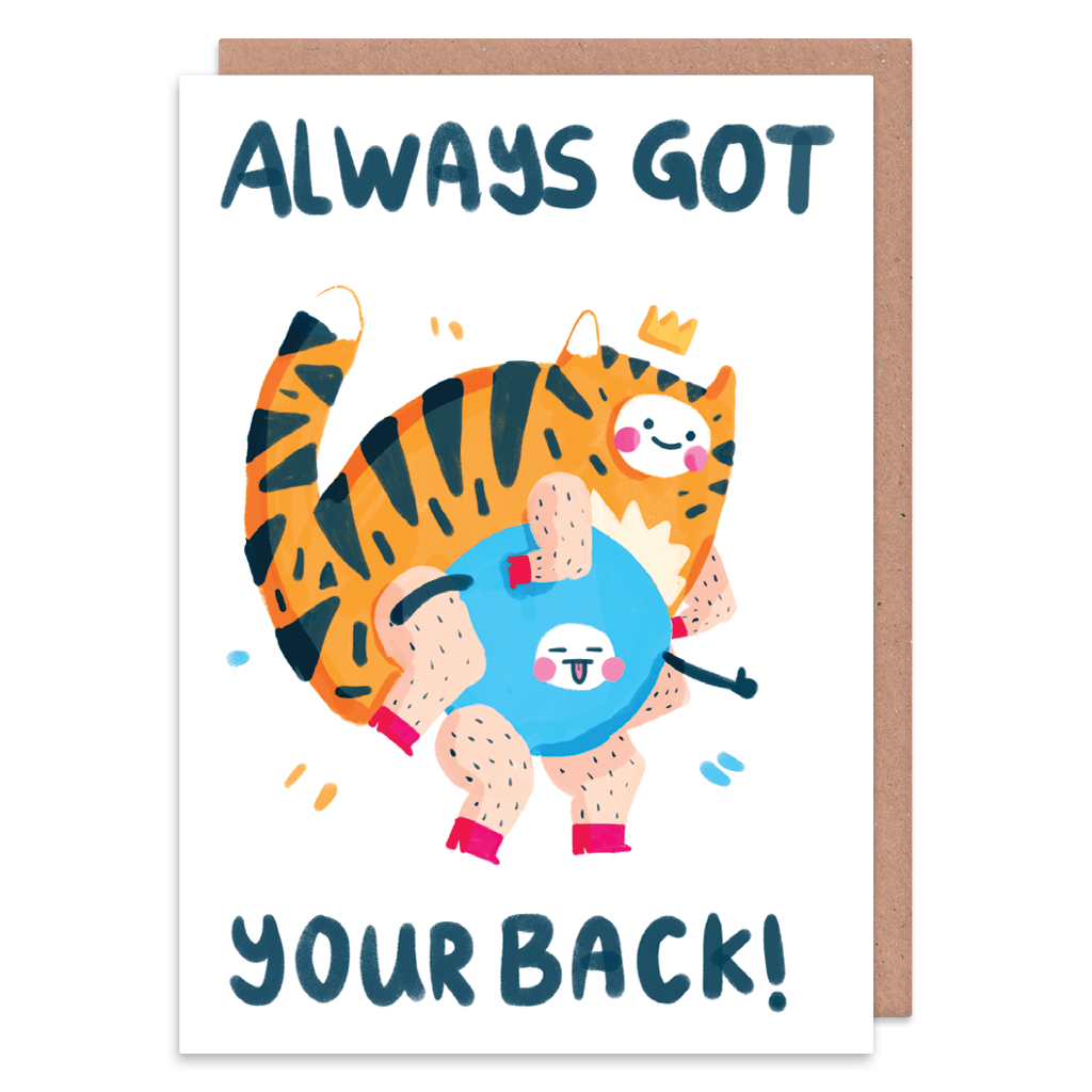 Always Got Your Back Greeting Card by The Happy Chappo - Whale and Bird