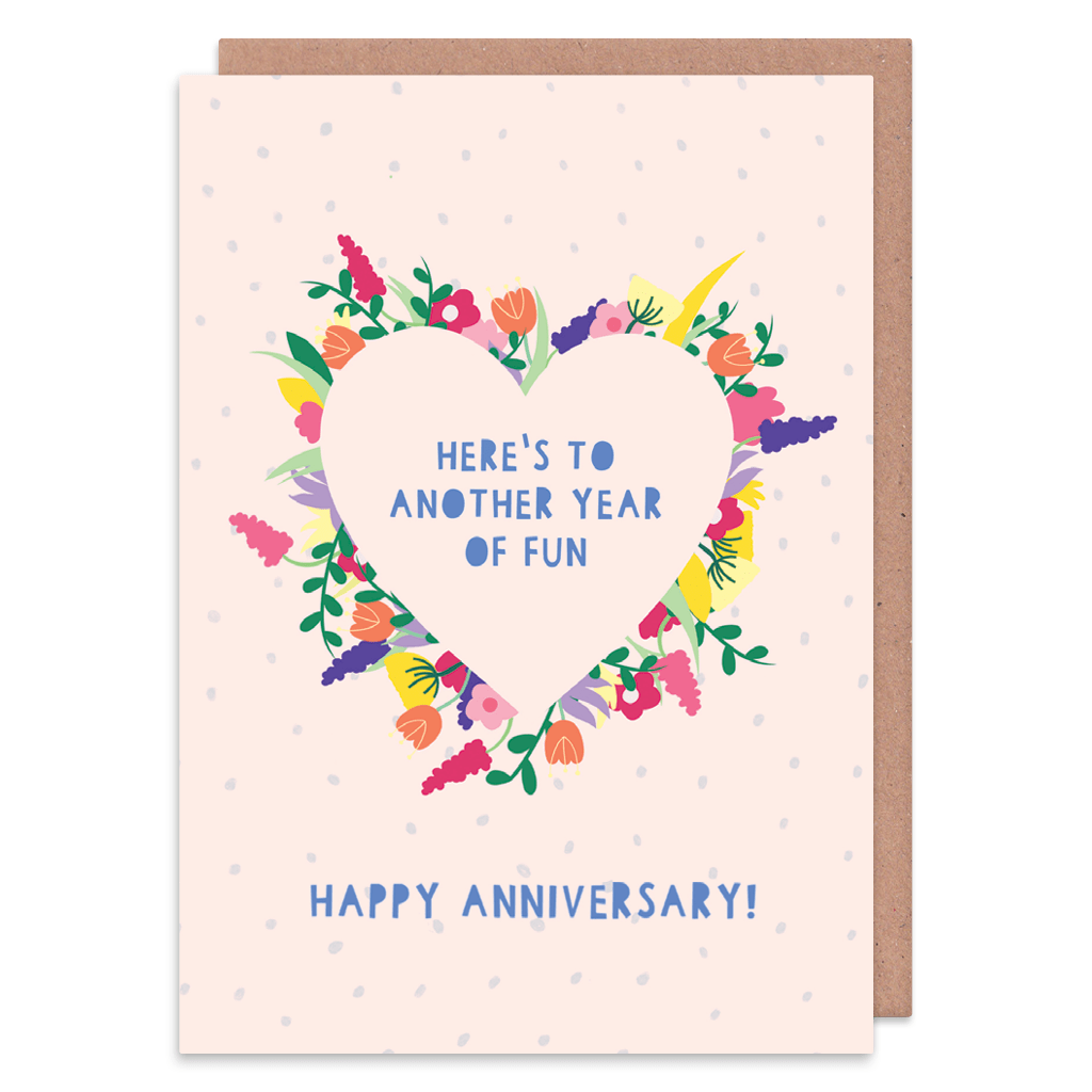 Here's To Another Year Of Fun Anniversary Card by Zoe Spry - Whale and Bird