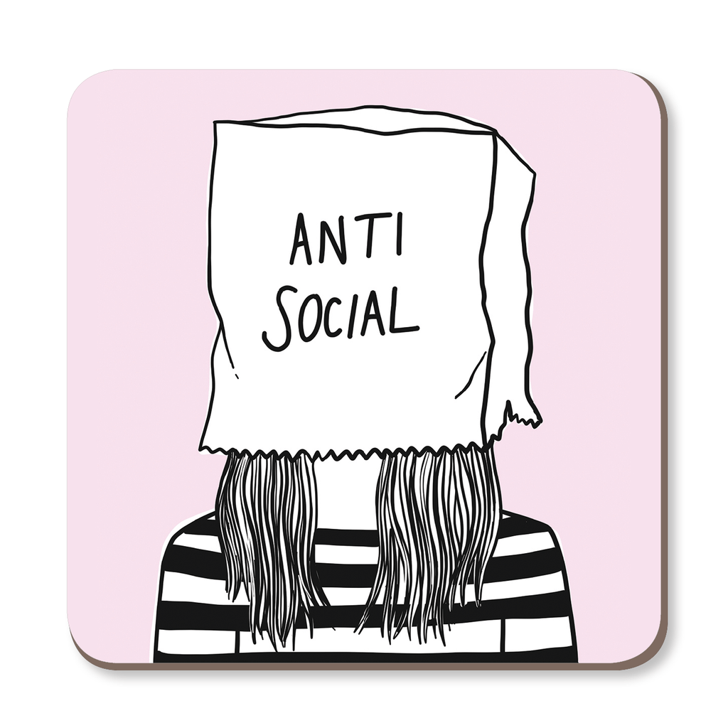 Anti Social Coaster by Corrin Strain - Whale and Bird