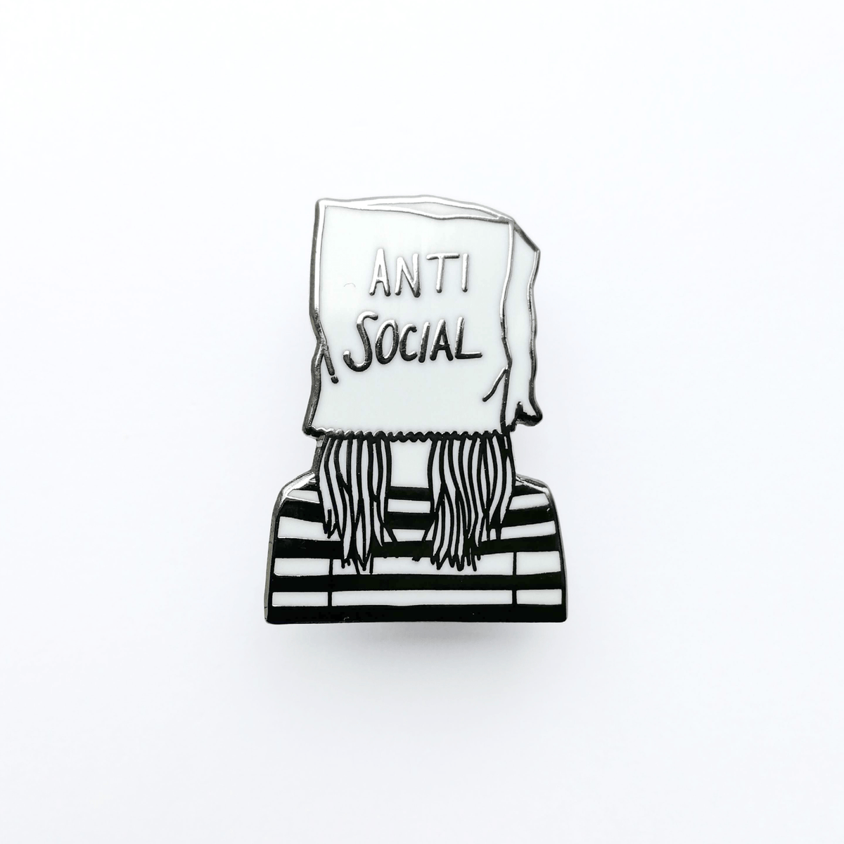 Anti Social Hard Enamel Pin by Corrin Strain - Whale and Bird