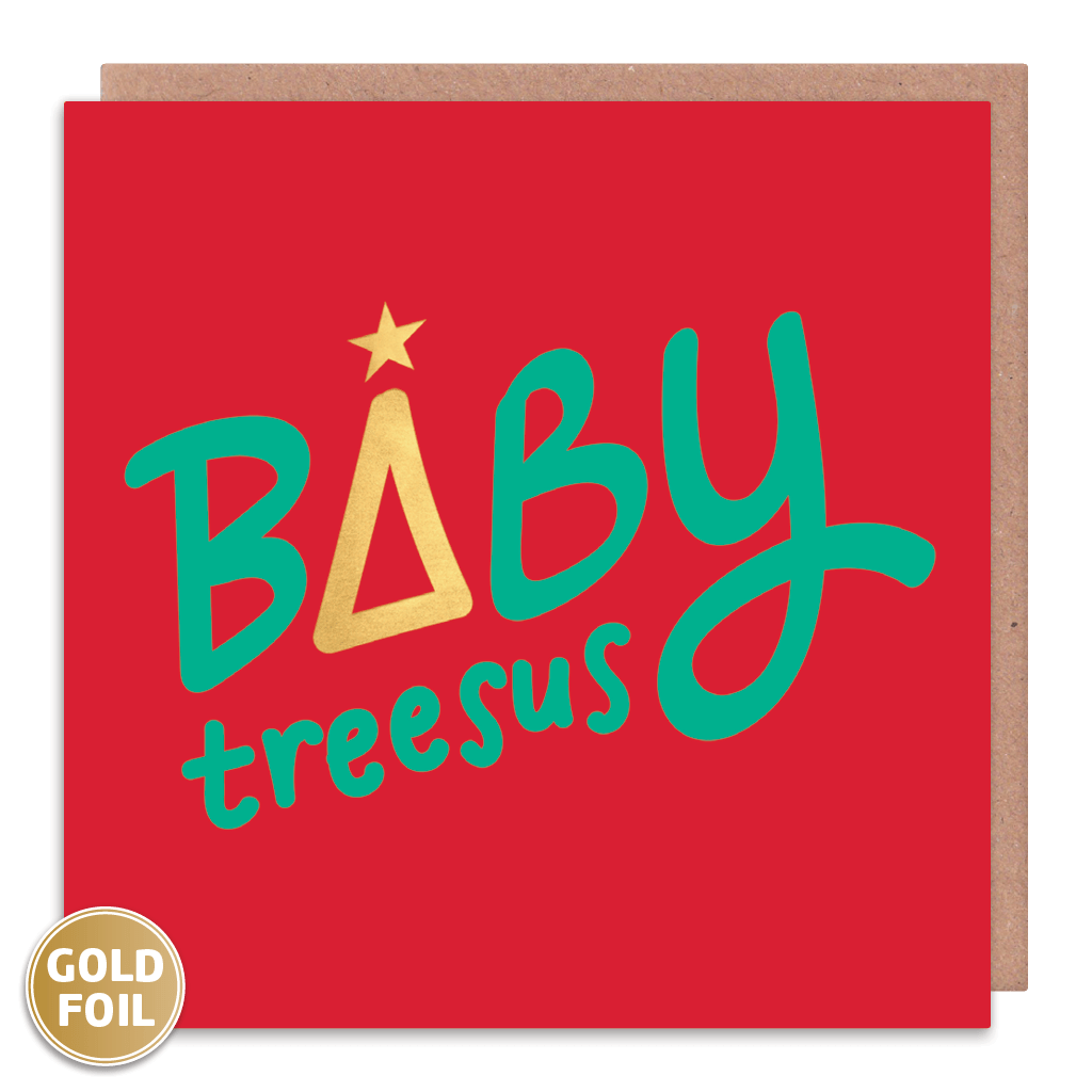 Baby Treesus Christmas Card by Squaire Cards - Whale and Bird