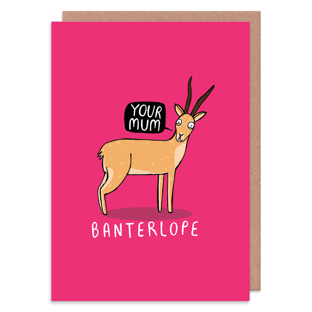 Banterlope Greeting Card by Katie Abey - Whale and Bird