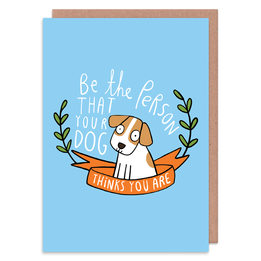 Be The Person Your Dog Thinks You Are Greeting Card by Katie Abey - Whale and Bird