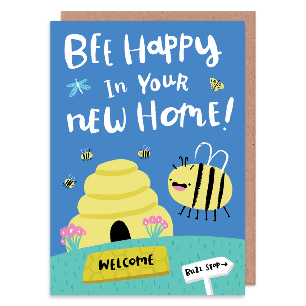 Bee Happy In Your New Home Card by Lisa Greener - Whale and Bird