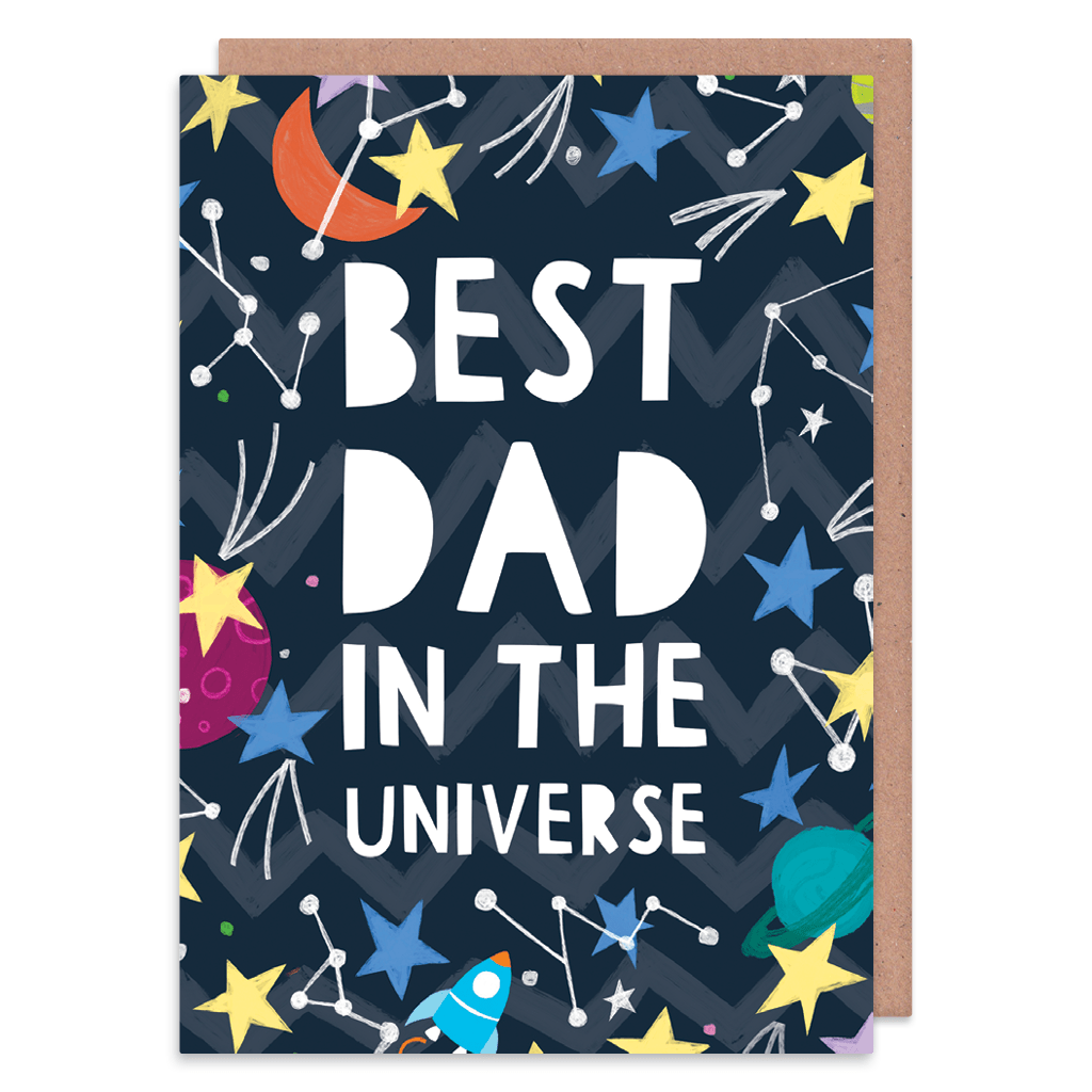 Best Dad In The Universe Greeting Card by Zoe Spry - Whale and Bird