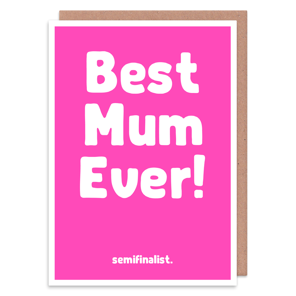 Best Mum Ever Semifinalist Greeting Card by The Spork Collection - Whale and Bird