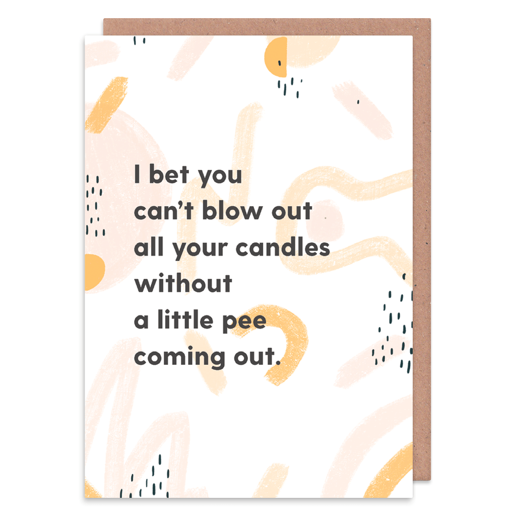 Bet You Can't Blow Out All Your Candles Birthday Card by Abstract - Whale and Bird