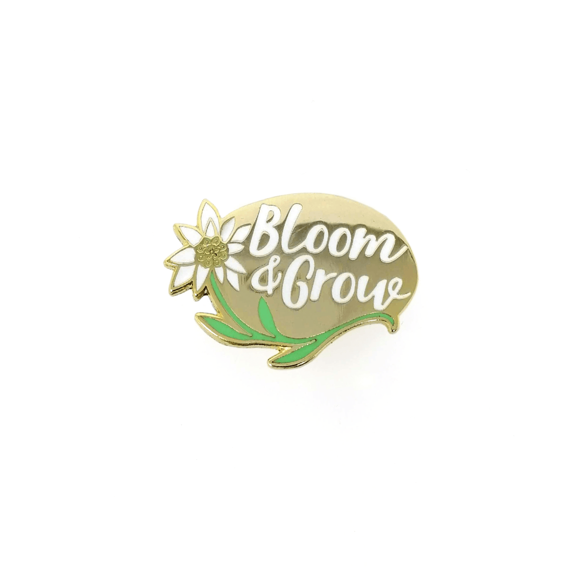 Bloom And Grow Hard Enamel Pin by Mary Joy Harris - Whale and Bird