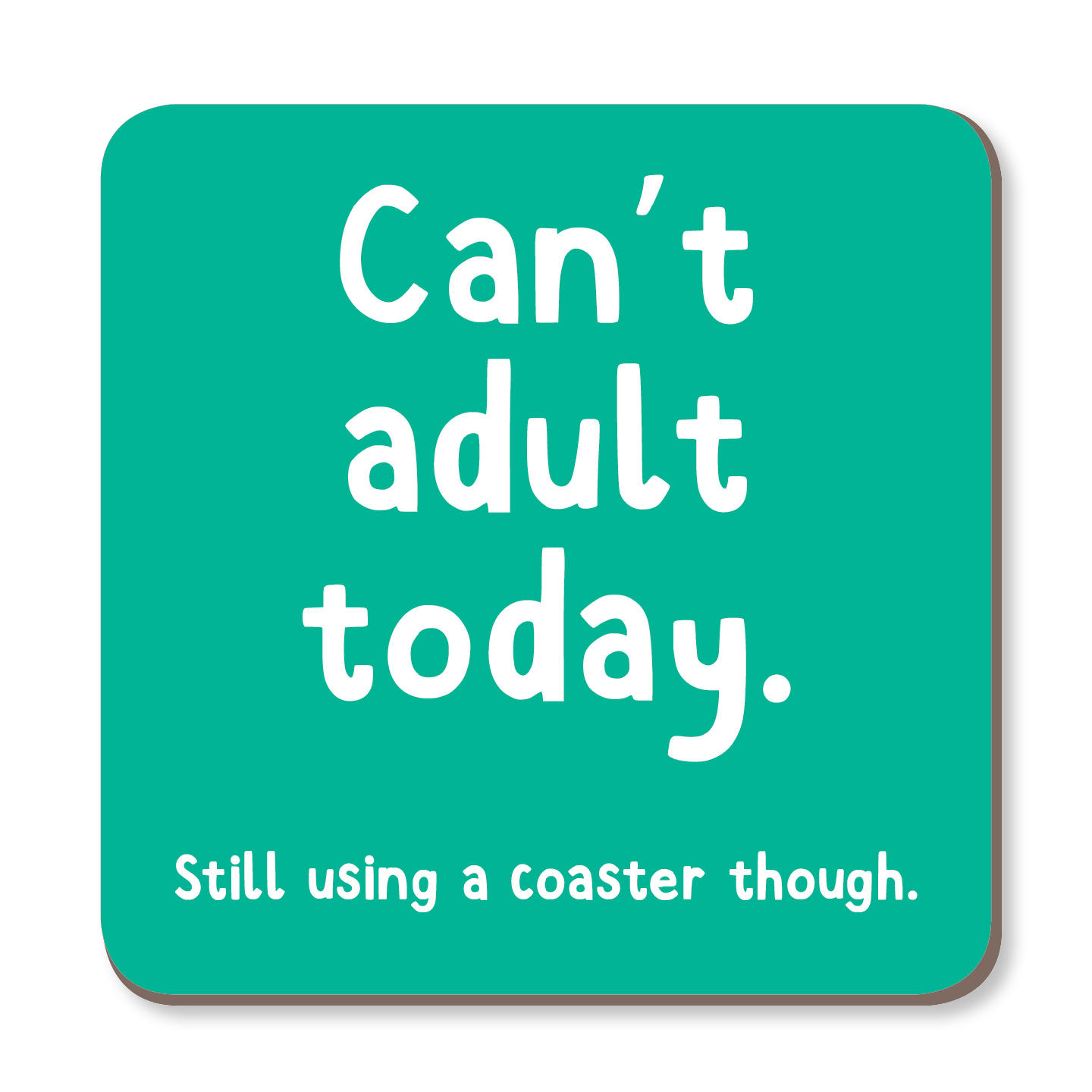 Can't Adult Today Coaster by The Spork Collection - Whale and Bird