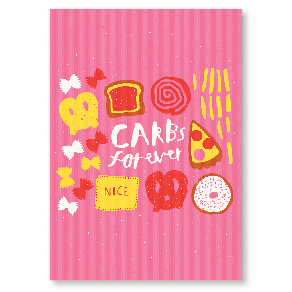 Carbs Forever Postcard by Nikki Miles - Whale and Bird