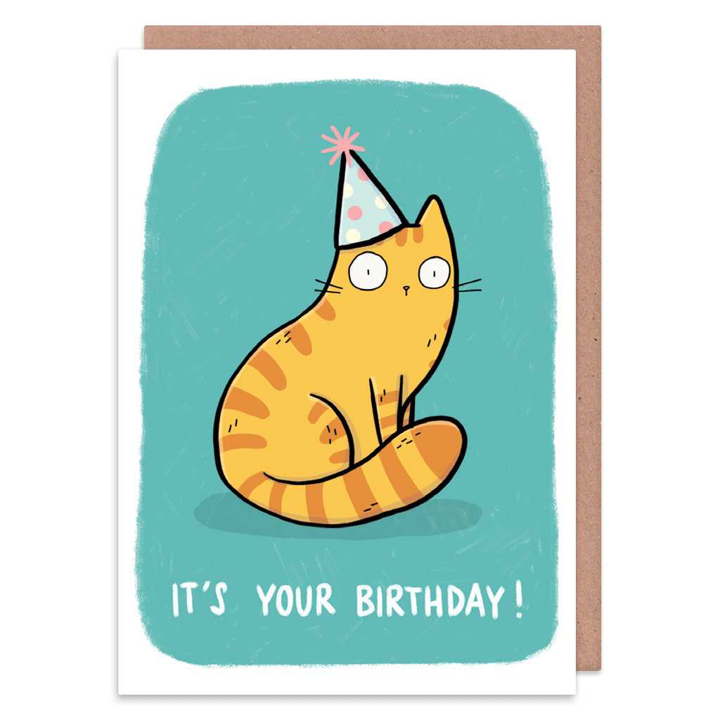 Cat In A Hat Birthday Card
