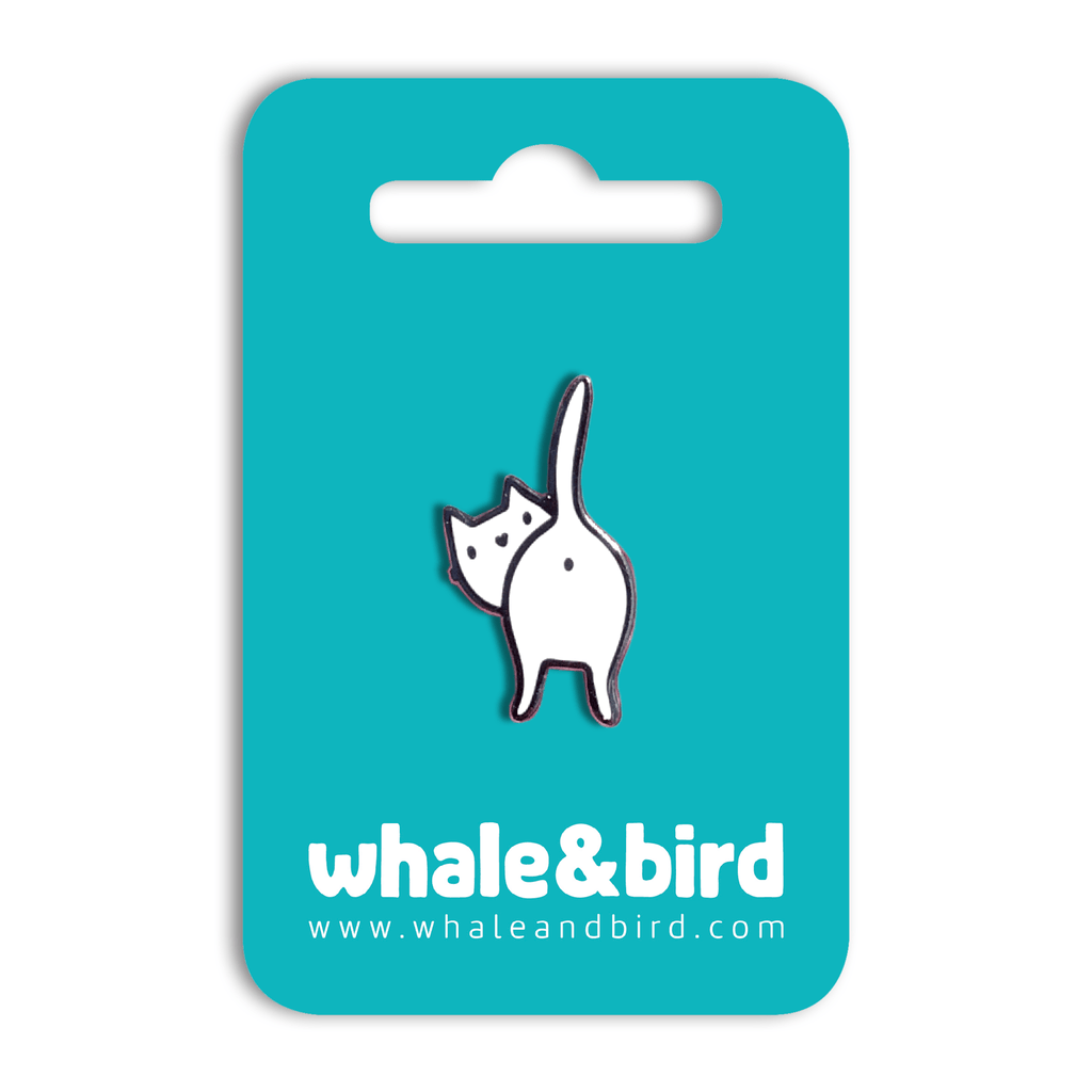Catbum Hard Enamel Pin by Anna Alekseeva - Whale and Bird