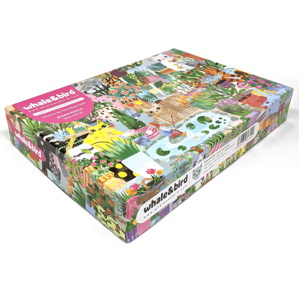 Cats In The Garden 1000 Piece Jigsaw Puzzle