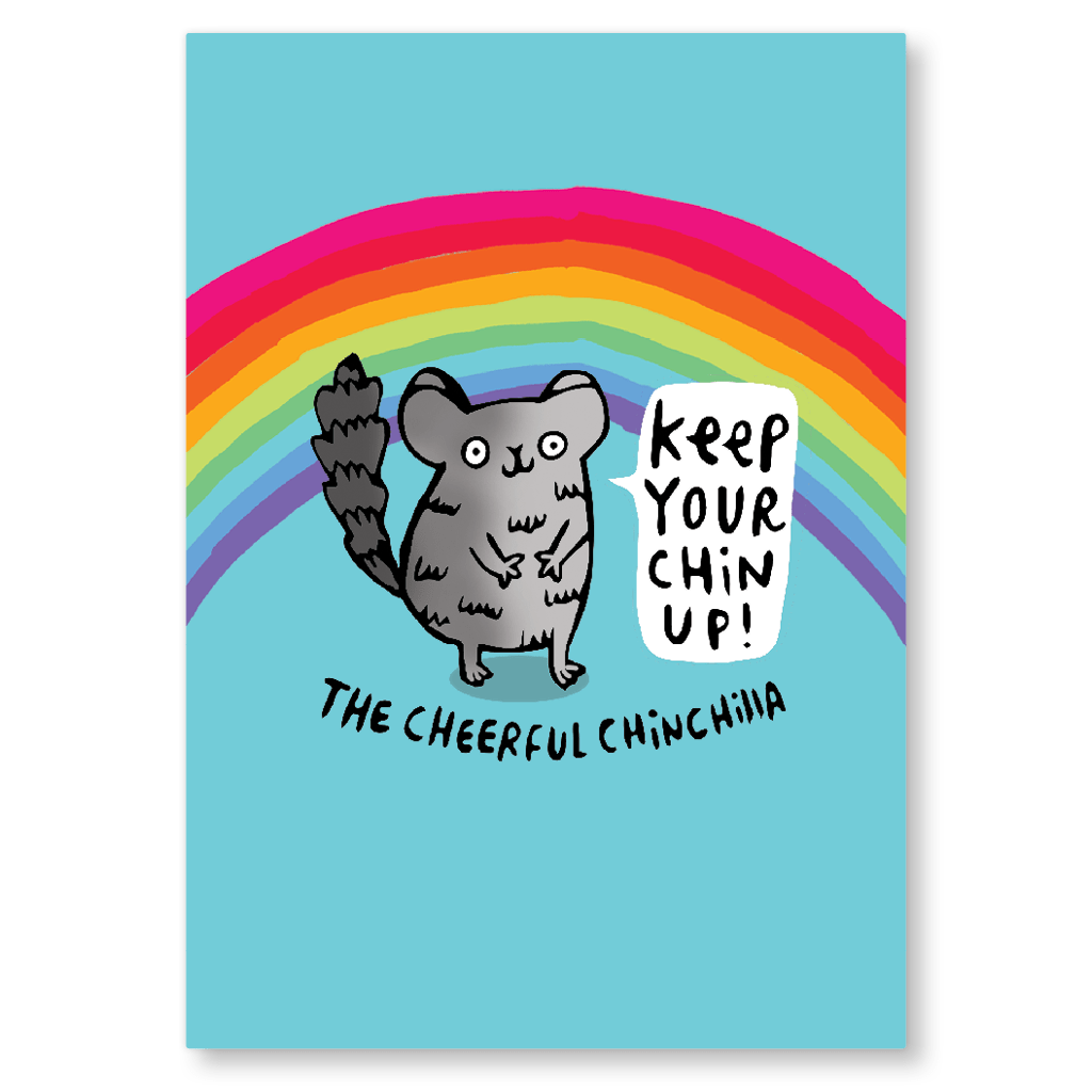 The Cheerful Chinchilla Postcard by Katie Abey - Whale and Bird