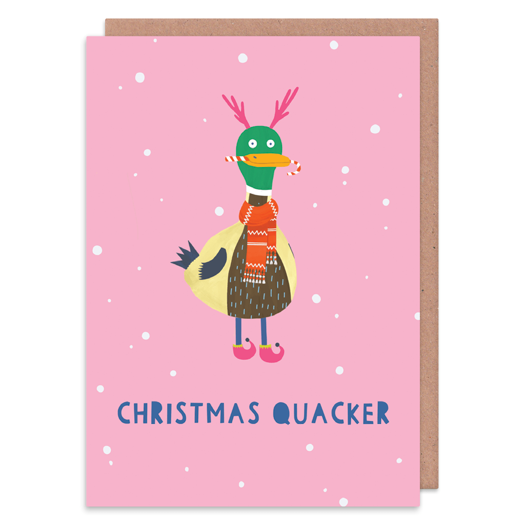 Christmas Quacker Duck Christmas Card by Zoe Spry - Whale and Bird