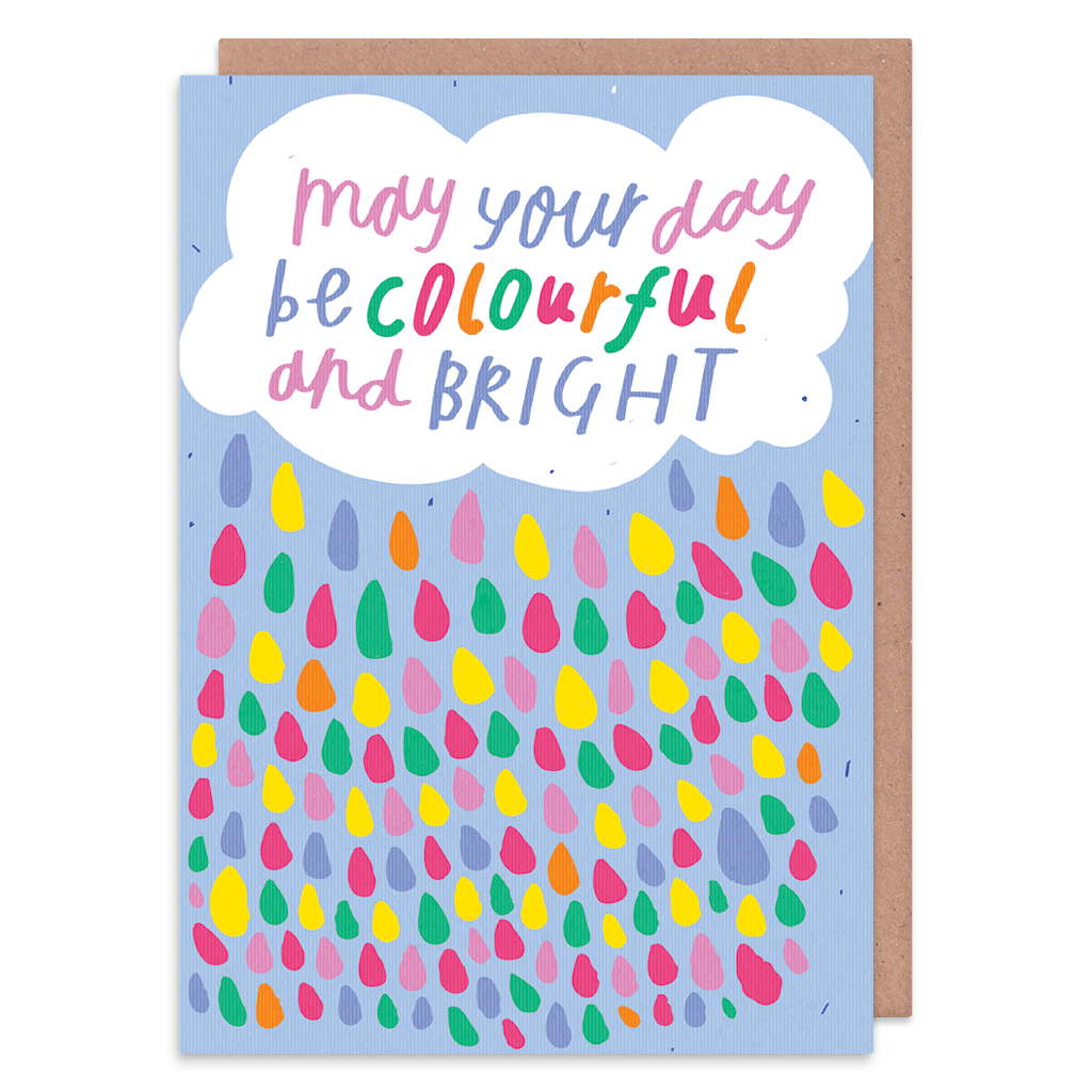 May Your Day Be Colourful And Bright Greeting Card by Nikki Miles - Whale and Bird