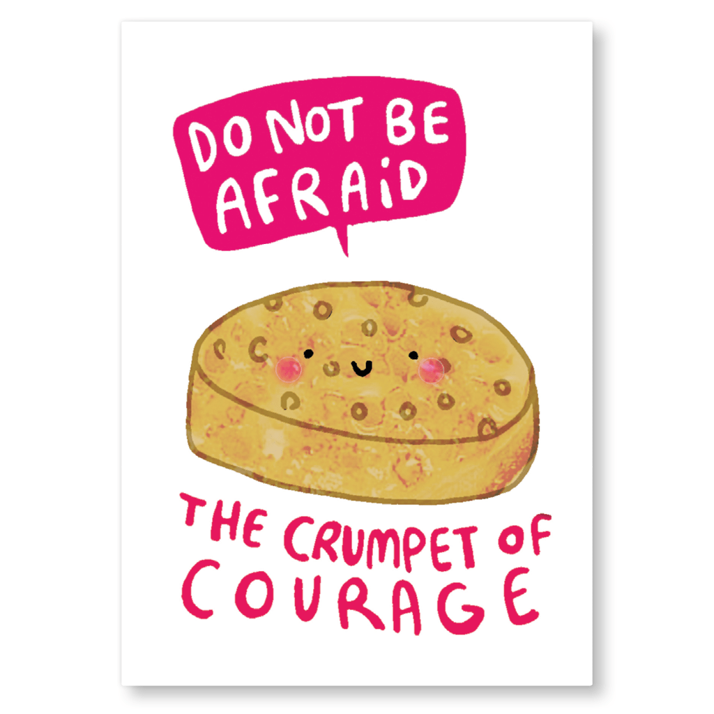 The Crumpet Of Courage Postcard by Katie Abey - Whale and Bird