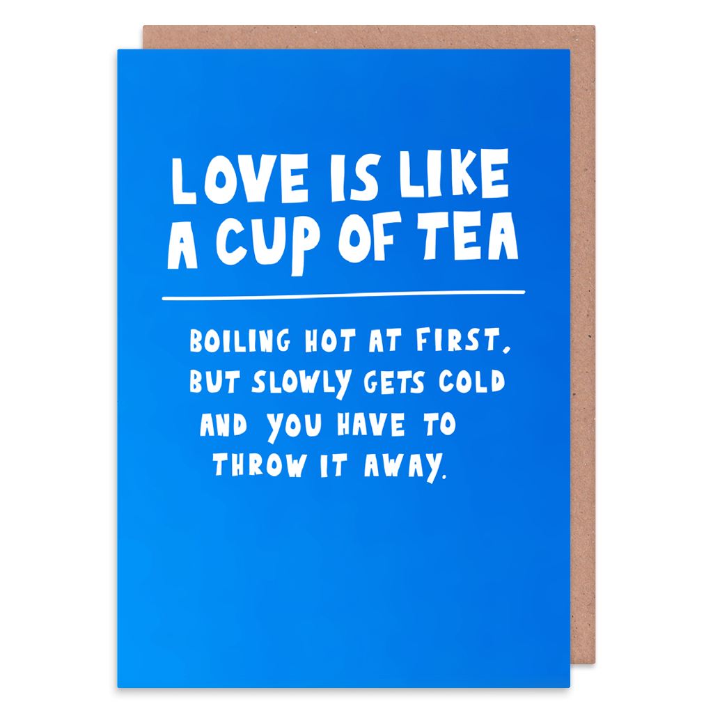 Love Is Like A Cup Of Tea Greeting Card by George The Cardmaker - Whale and Bird