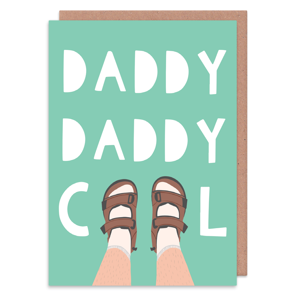 Daddy Cool Socks And Sandals Greeting Card by Zoe Spry - Whale and Bird