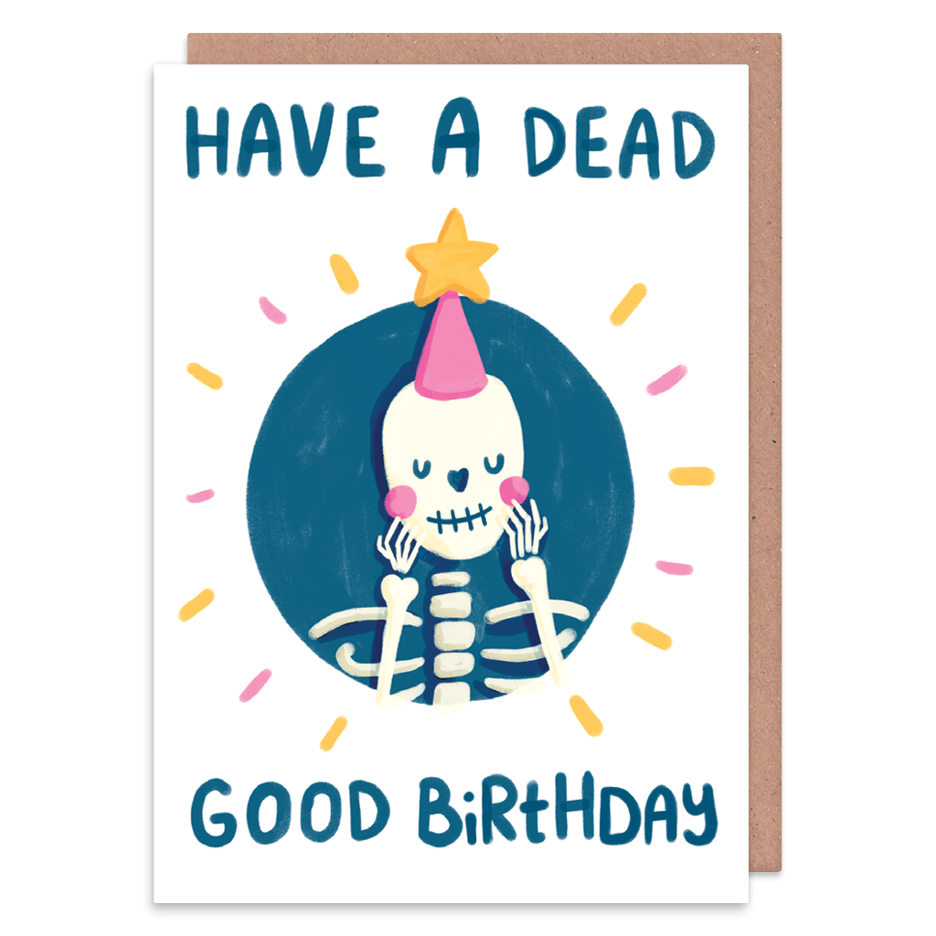 Have A Dead Good Birthday Card by The Happy Chappo - Whale and Bird