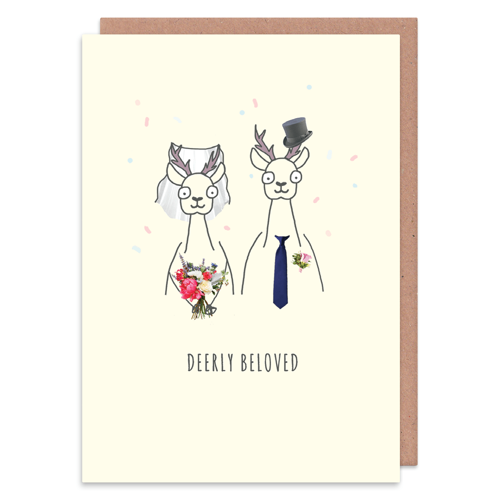 Deerly Beloved Wedding Card by Zoe Spry - Whale and Bird