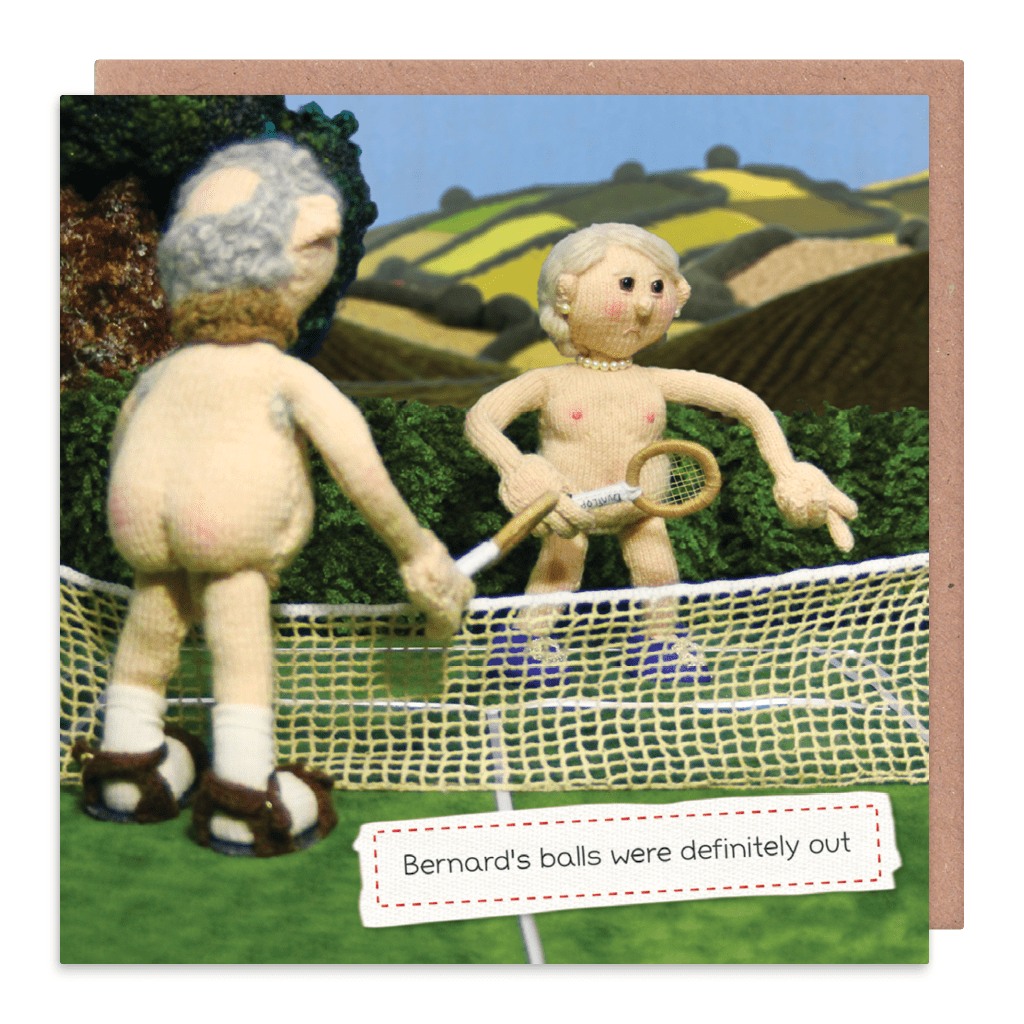 His Balls Were Definitely Out Greeting Card by Nudinits - Whale and Bird
