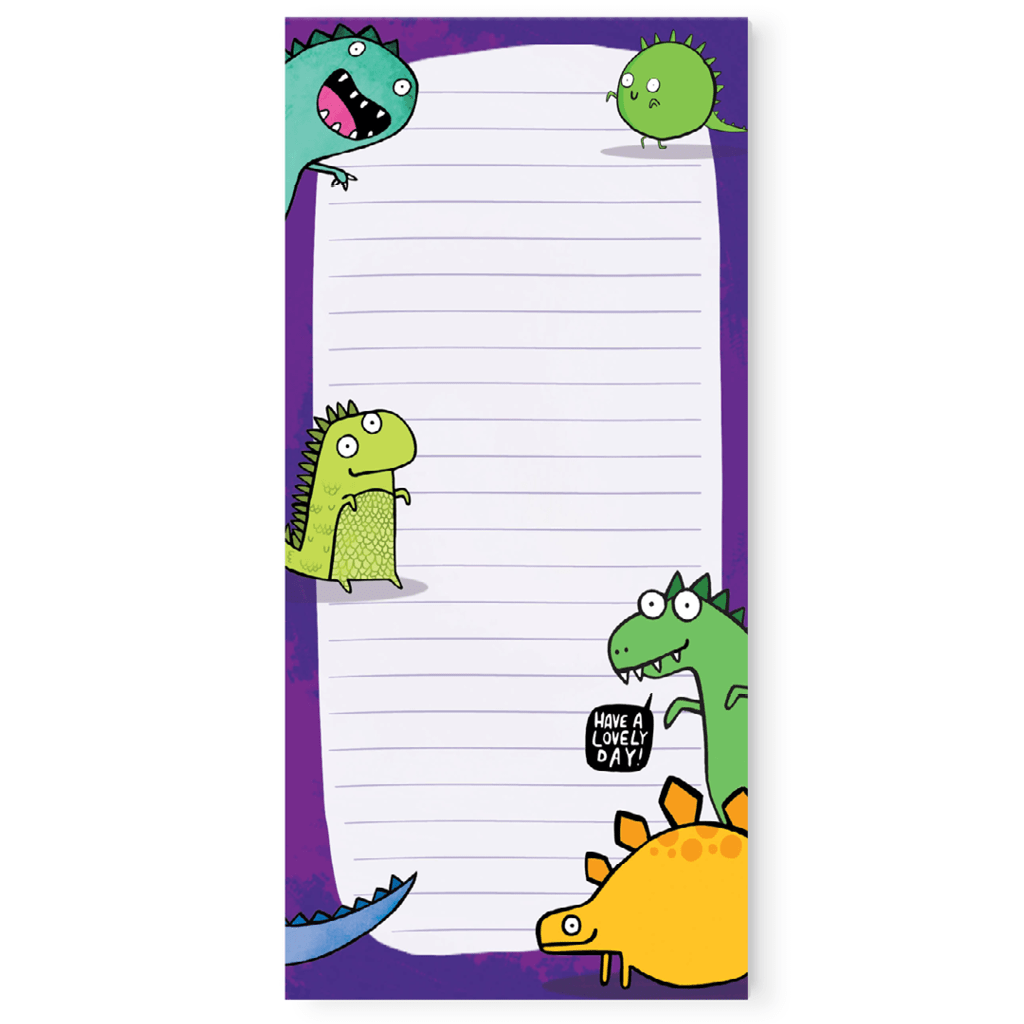 Dinosaur To Do List Pad by Katie Abey - Whale and Bird