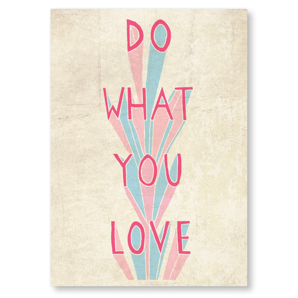 Do What You Love Postcard by Charly Clements - Whale and Bird