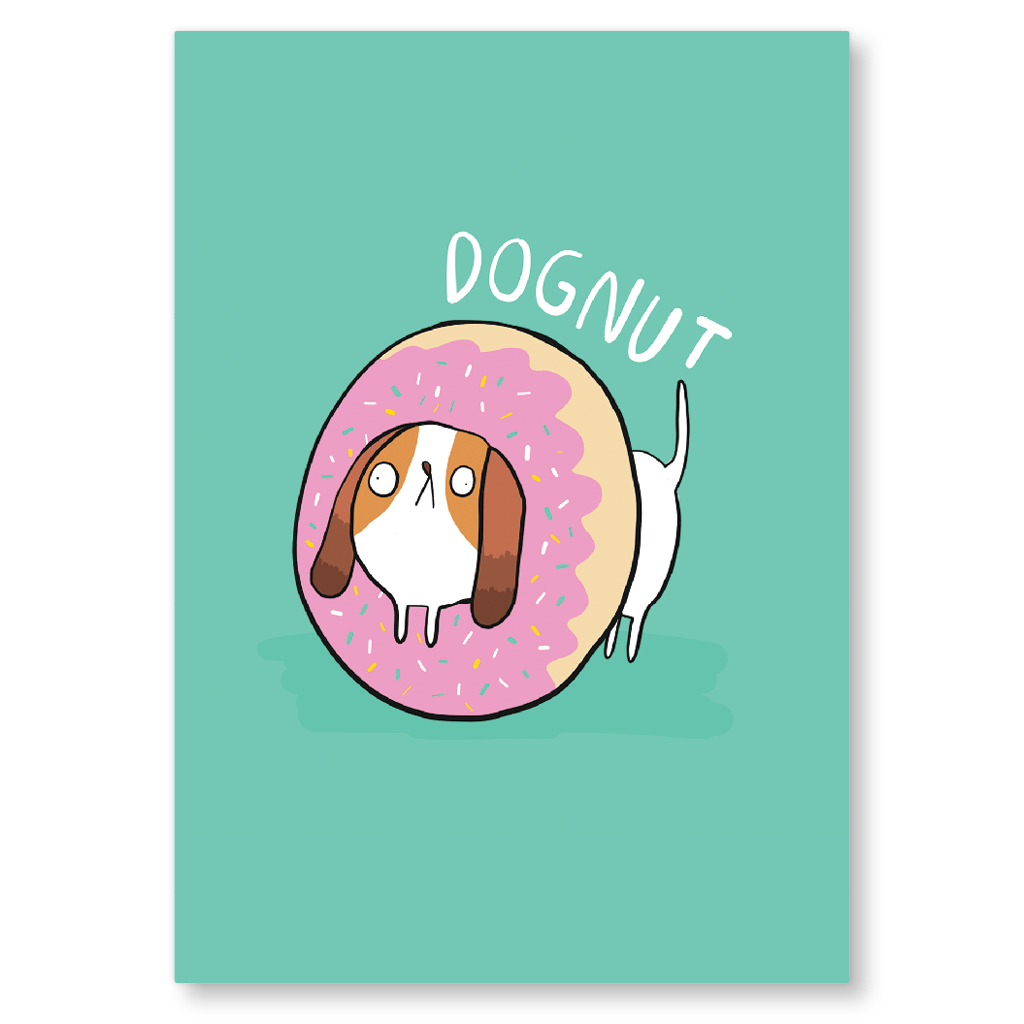 Dognut Postcard by Katie Abey - Whale and Bird