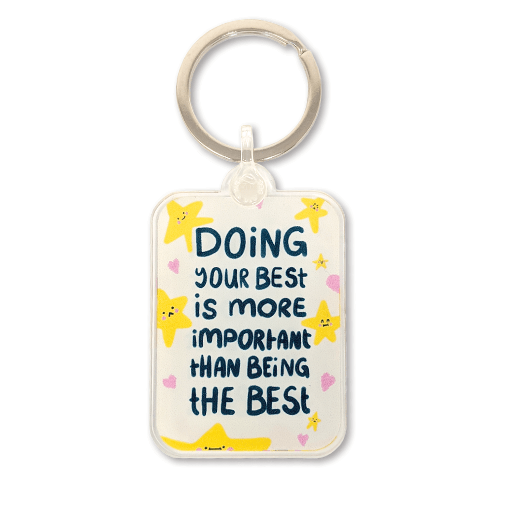 Doing Your Best Motivational Keyring by The Happy Chappo - Whale and Bird