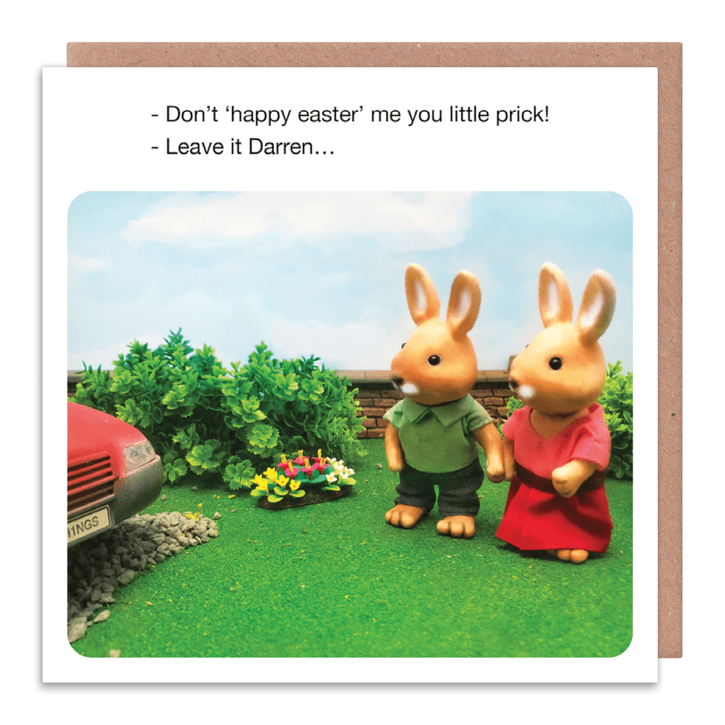 Don't Happy Easter Me You Little Prick Greeting Card by forest fr1ends - Whale and Bird