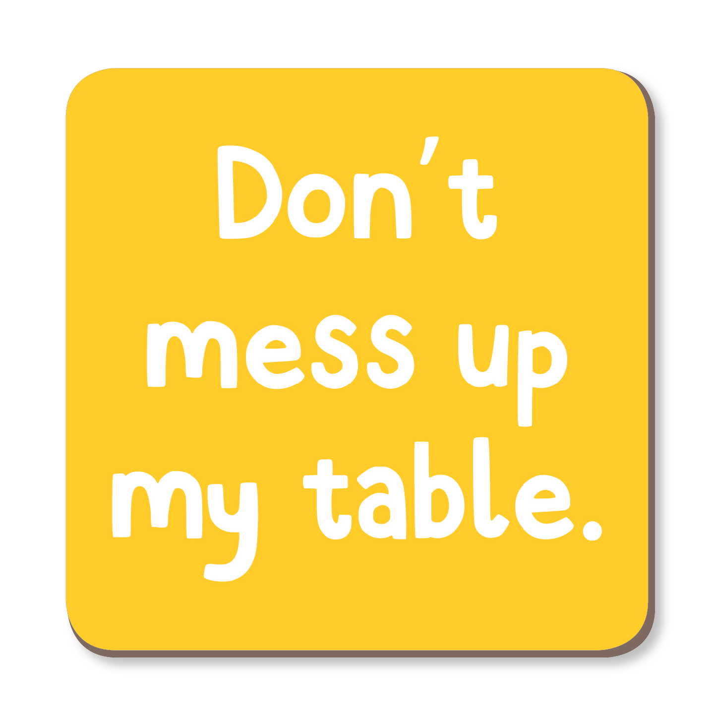 Don't Mess Up My Table Coaster by The Spork Collection - Whale and Bird