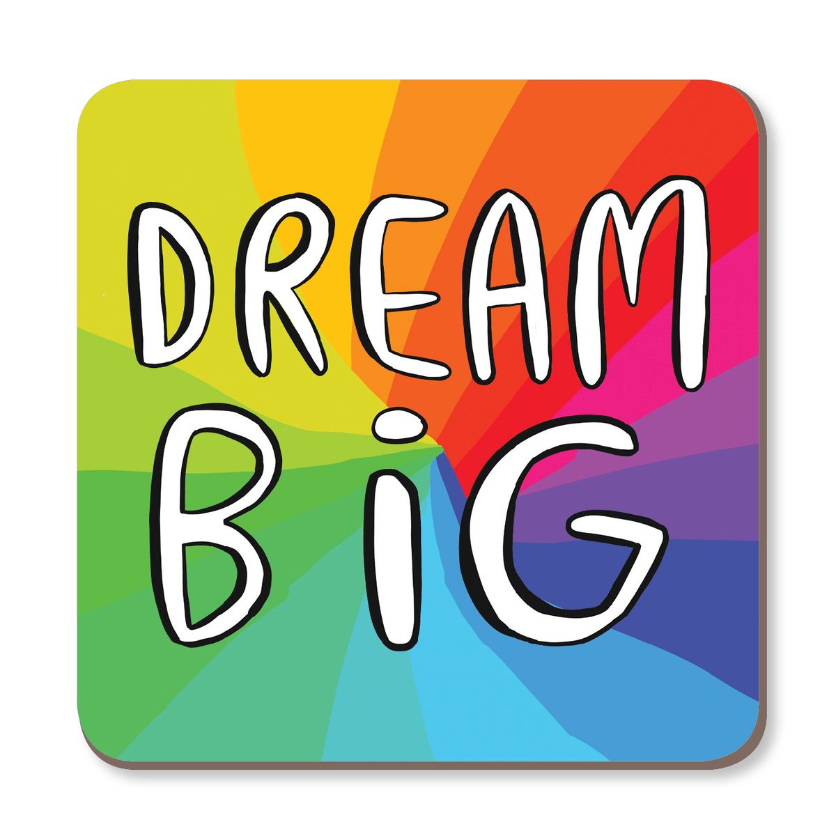 Dream Big Rainbow Coaster by Katie Abey - Whale and Bird
