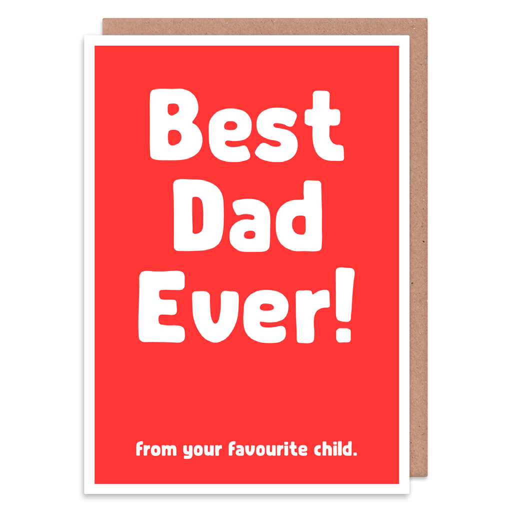Best Dad Ever From Your Favourite Child Greeting Card by The Spork Collection - Whale and Bird