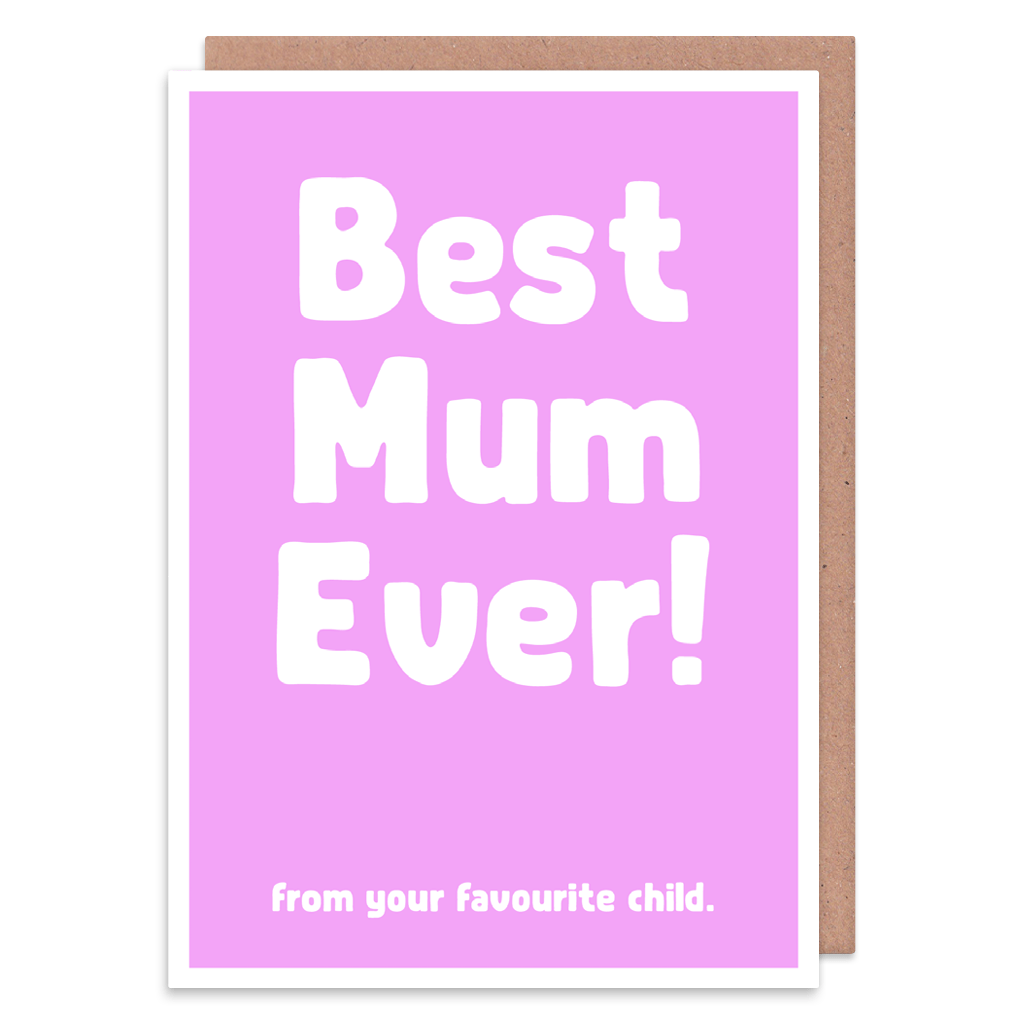 Best Mum Ever From Your Favourite Child Greeting Card by The Spork Collection - Whale and Bird
