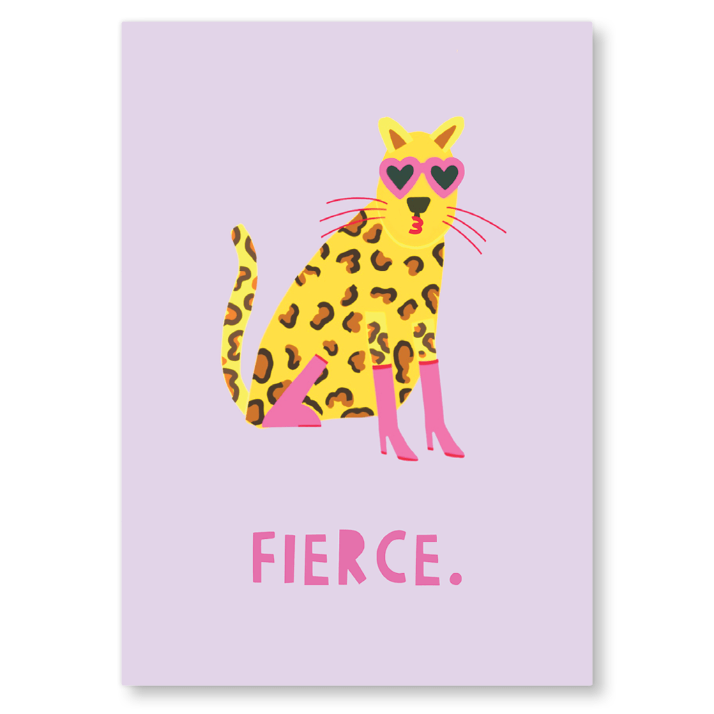 Fierce Postcard by Zoe Spry - Whale and Bird