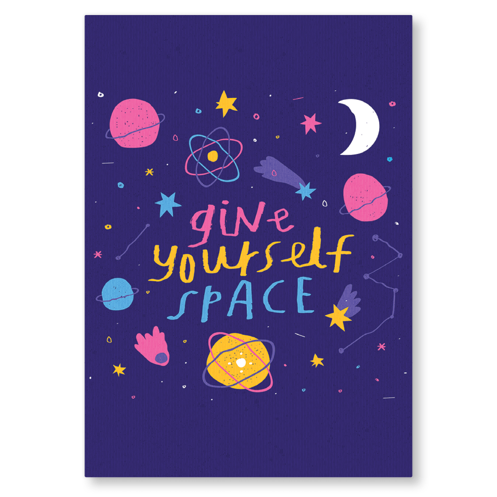 Give Yourself Space Postcard by Nikki Miles - Whale and Bird
