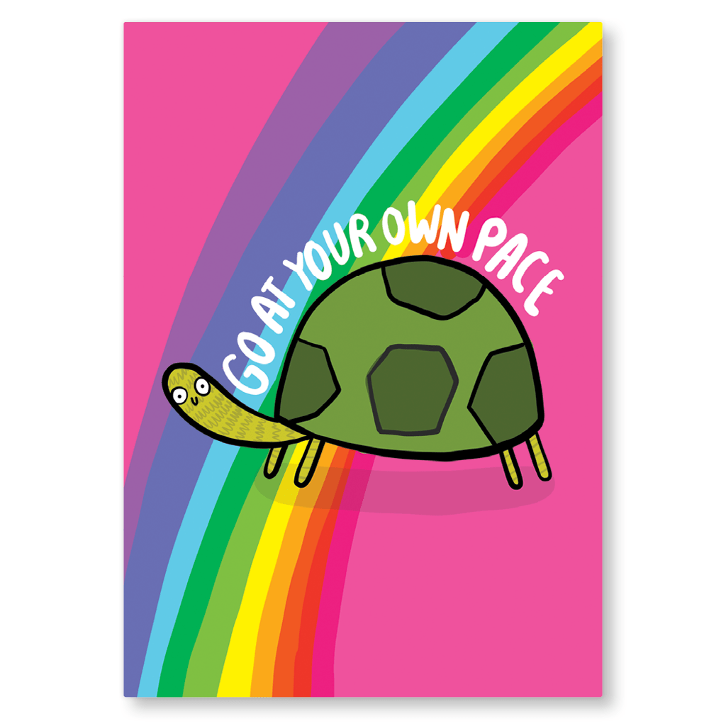 Go At Your Own Pace Postcard by Katie Abey - Whale and Bird
