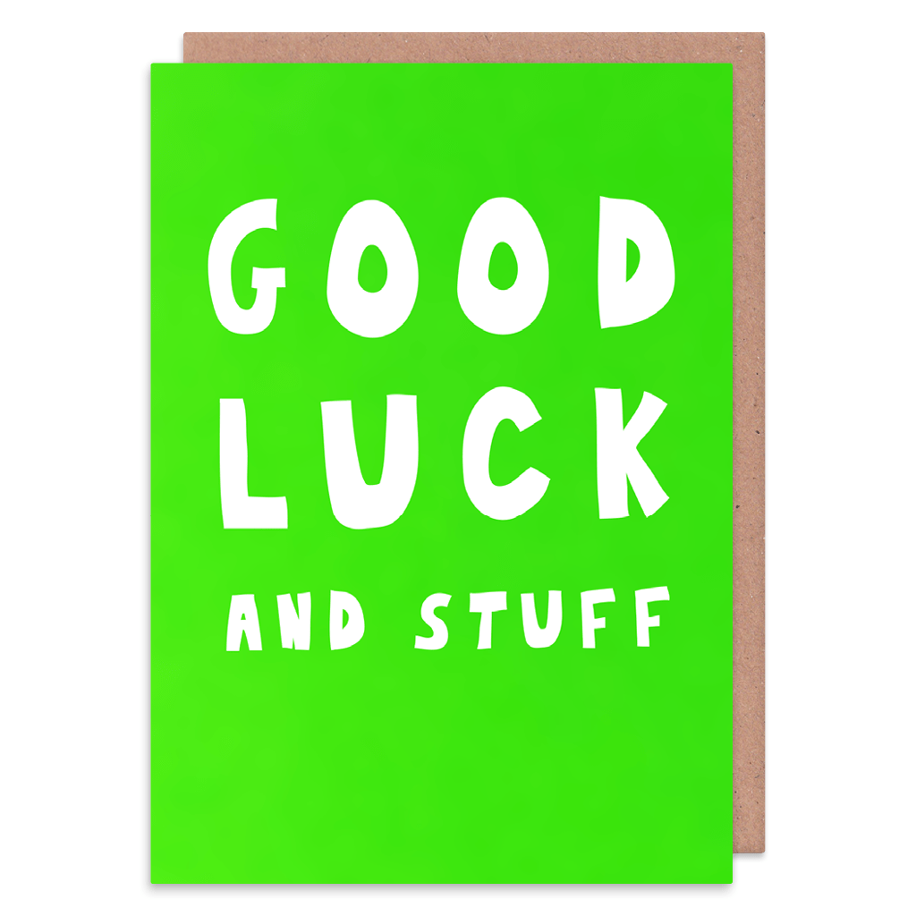 Good Luck And Stuff Good Luck Card by George The Cardmaker - Whale and Bird