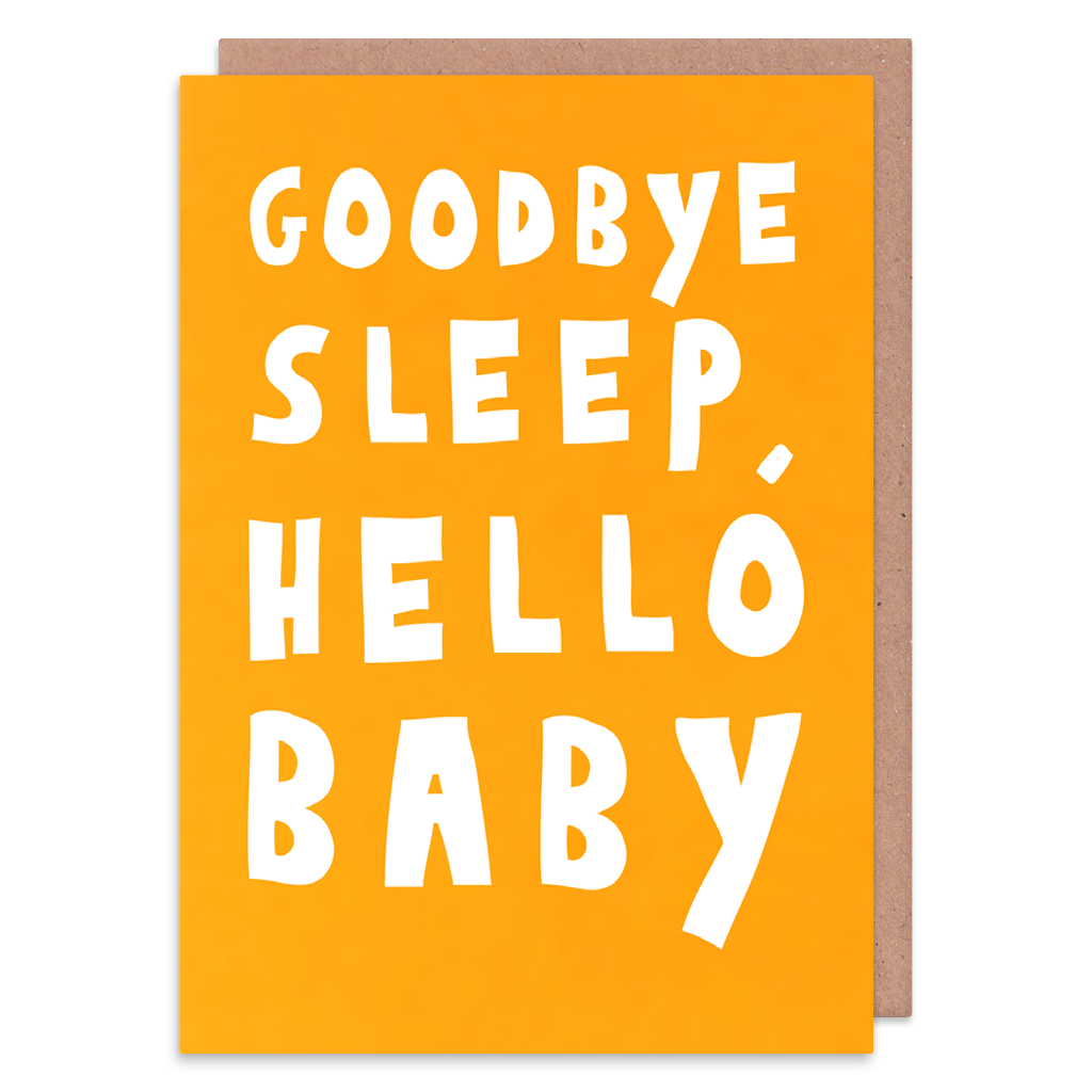Goodbye Sleep Hello Baby New Baby Card by George The Cardmaker - Whale and Bird
