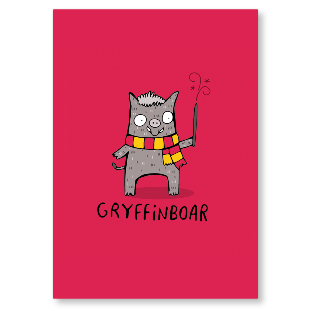 Gryffinboar Postcard by Katie Abey - Whale and Bird