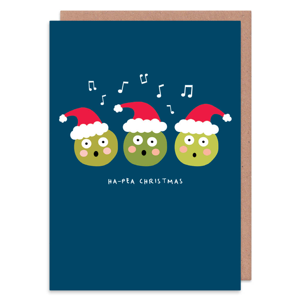 Ha-Pea Christmas - Christmas Card by Ooh I Like That - Whale and Bird