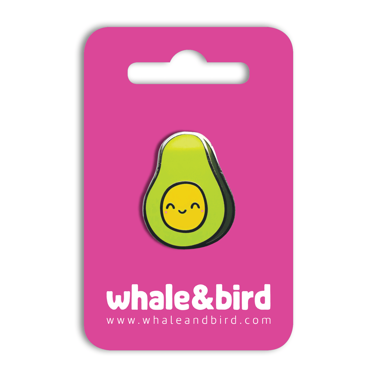 Happy Avocado Hard Enamel Pin by Anna Alekseeva - Whale and Bird