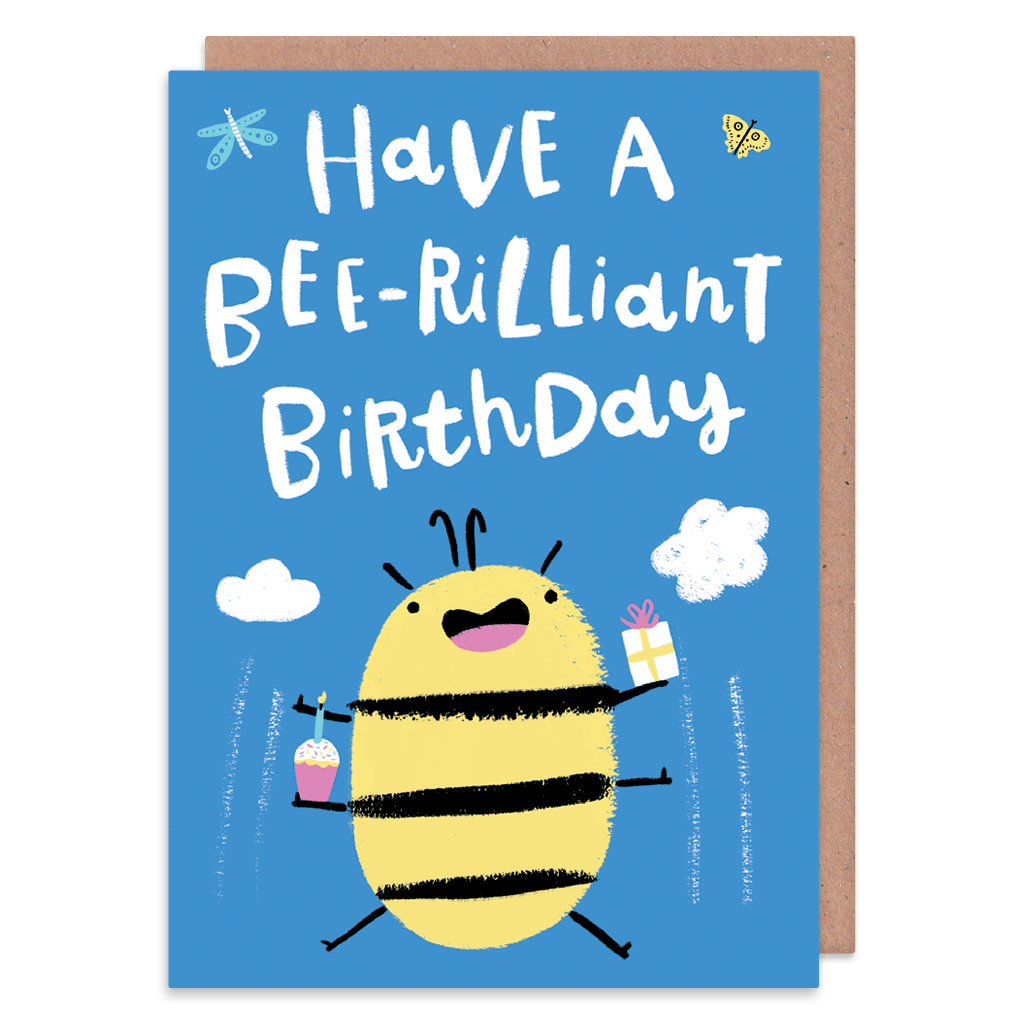 Have A Bee-Rilliant Birthday Card by Lisa Greener - Whale and Bird