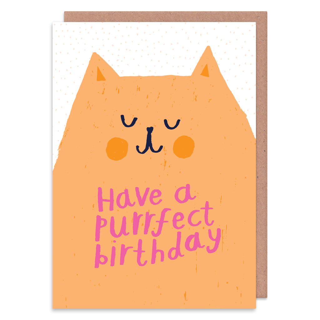 Have A Purrfect Birthday Card by Nikki Miles - Whale and Bird