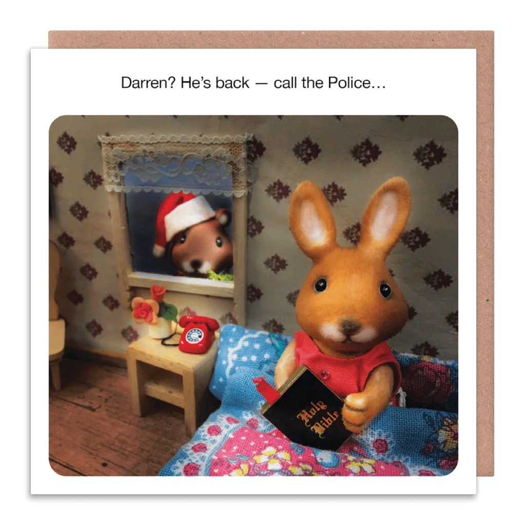 He's Back - Call The Police Christmas Card by forest fr1ends - Whale and Bird
