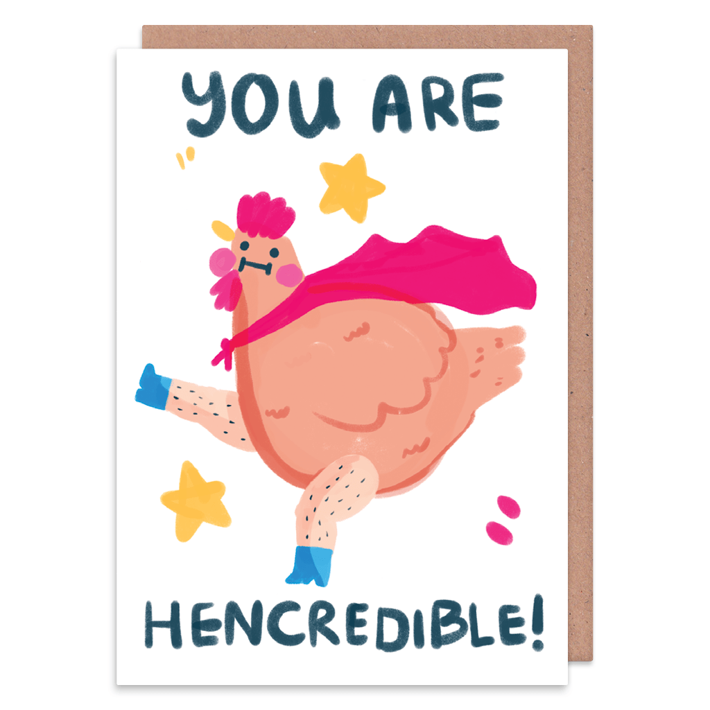 You Are Hencredible Greeting Card by The Happy Chappo - Whale and Bird
