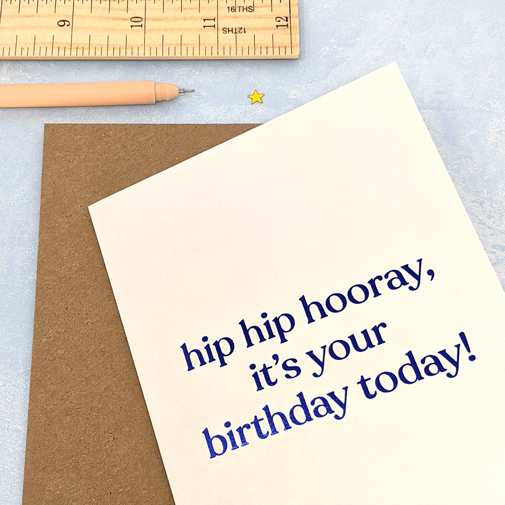 Hip Hip Hooray Birthday Card by Amy Wicks - Whale and Bird